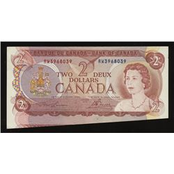 Bank of Canada $2, 1974 - Cutting Error