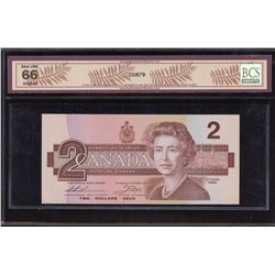 Bank of Canada $2, 1986 - 3 Digit Radar, 4 Cycle Repeater Replacement