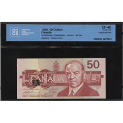 Bank of Canada $50, 1988 - Misplaced OSD Error