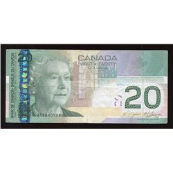 Bank of Canada $20, 2008 Error Offset Serial Number
