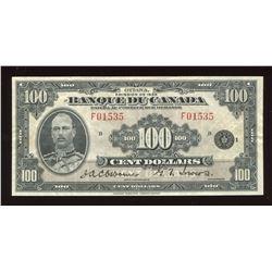 Banque du Canada $100, 1935
