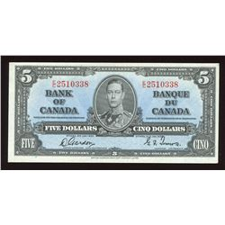 Bank of Canada $5, 1937
