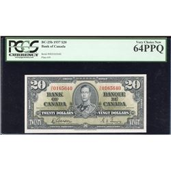 Bank of Canada $20, 1937 Transitional Prefix