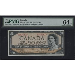 Bank of Canada $50, 1954 Devil's Face
