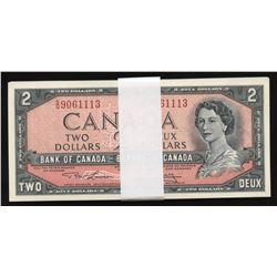 Bank of Canada $2, 1954 - Lot of 36 Consecutive