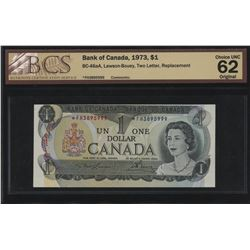 Bank of Canada $1, 1973 Rare Replacement