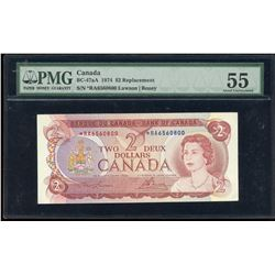 Bank of Canada $2, 1974 Replacement