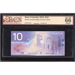Bank of Canada $10, 2001 Changeover