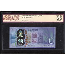 Bank of Canada $10, 2017 Scarce CDF Prefix