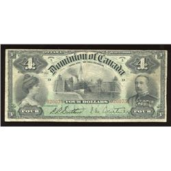 Dominion of Canada $4, 1900