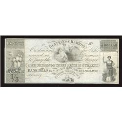 Watkins & Harris One Shilling & Three Pence in Currency