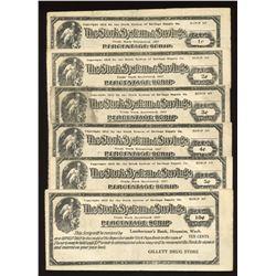1900's Stork System of Savings - Gillett Drug Store Percentage Scrip
