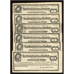 1900's Stork System of Savings - Gillett Drug Store Percentage Scrip