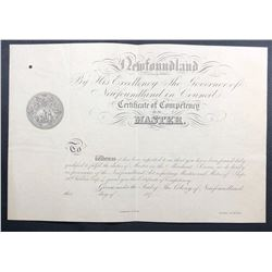Mariner's Commission Certificate