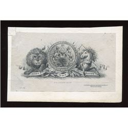 Die proof vignette:  P. E. Island Arms, BABN#74.