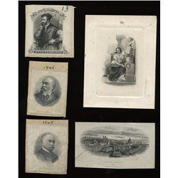 Banque Jacques Cartier - Total of five vignettes.