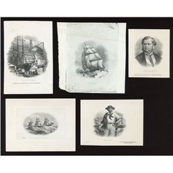 Maritime Bank of the Dominion of Canada, five die proof vignettes.