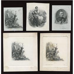 Banque de St. Hyacinthe, St. Lawrence Bank - Total of six die proof vignettes.