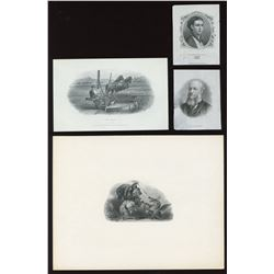 Union Bank of Canada,  Bank of Western Canada Bank of Yarmouth - Four die proof vignettes.