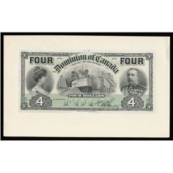 Dominion of Canada, face proof with tint, on card