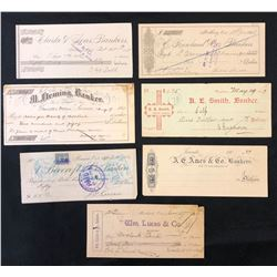 Ontario Private Bank Cheques - Total of seven cheques.