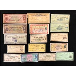 Travellers Cheques, 1930s to 1960s, thirteen items, all used, plus