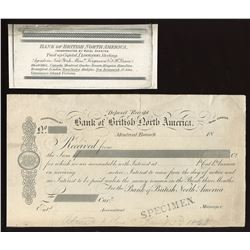 Bank of British North America, Bill of Exchange Lot