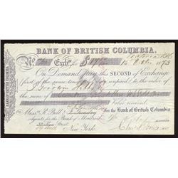 Bank of British Columbia, Bill of Exchange