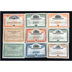 Dominion Stores, collection of Share Certificates.