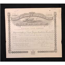 Certificate for 50 Shares, The Governor and Company of Adventurers of England Trading into Hudson's