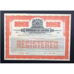 Dominion of Canada $10,000 Bond, 1915, Specimen.
