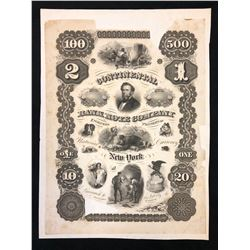 Continental Bank Note Company, Trade Sample Sheet, Proof, mounted on heavier paper.