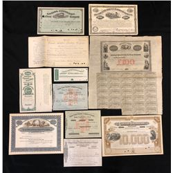 Collection of Railway Financial Documents.