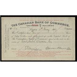Canadian Bank of Commerce, share certificates