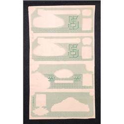 Banque Ville Marie, 1889 $5. 5.10.20 Tint Proof Sheet