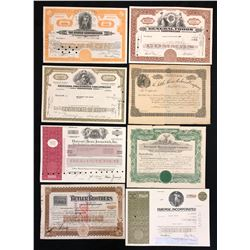 United States, stock and bond certificates.