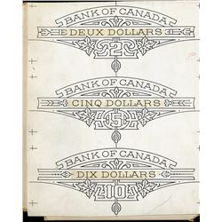 Drawings for Pantographs in 1935 Bank of Canada note tint plates.