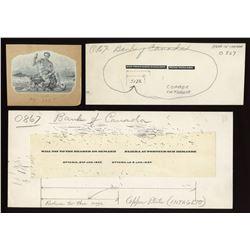 Die proof vignette, allegorical male on back of 1937 $5