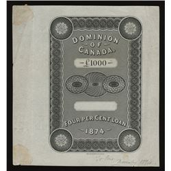Perkins, Bacon & Co. portions of engraving for Dominion of Canada bonds