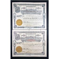 Niagara Area Mining Share Certificates.