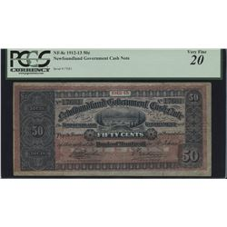 Newfoundland Government Cash Note 50 Cents, 1912-13