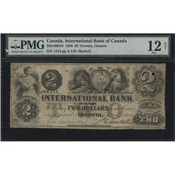 International Bank of Canada $2, 1858
