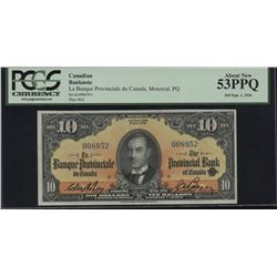 Banque Canadienne Provinciale du Canada $10, 1936