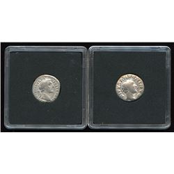 Ancients: set of 2 Antoninus Pius  Life and Death  Issued Coins