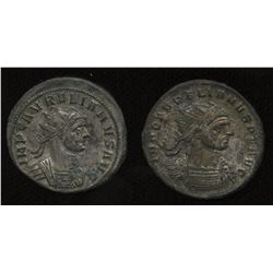 Ancient Rome: Aurelian 270-275 AD - Lot of 2.