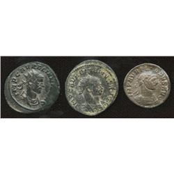 Ancient Rome: Aurelian 270-275 AD - Lot of 3.