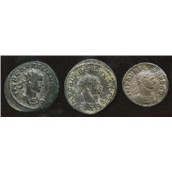 Ancient Rome: Aurelian 270-275 AD - Lot of 3.