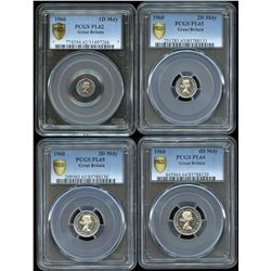 1960 Great Britain Maundy PGCS Graded Partial Set
