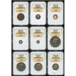 Great Britain - George VI 1937, 15 Coin Specimen Set.