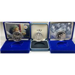 Lot of 3 British Royal Mint Silver Commemorative coins